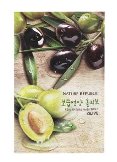 Qiansoto Olive Hydrating Nourishing Mask 1 Box 6 Sachet nature republic real nature olive mask sheet mask