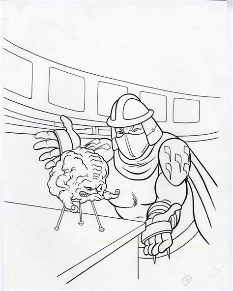 ninja turtles shredder coloring pages gill fox teenage mutant ninja turtles krang shredder