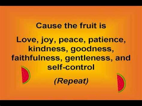 fruit of the spirit song fruit of the spirit with lyrics