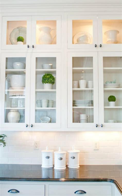Kitchen With Glass Cabinets | pretty kitchen display