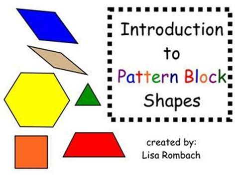 shape using pattern blocks intro to pattern block shapes math smartboard lesson