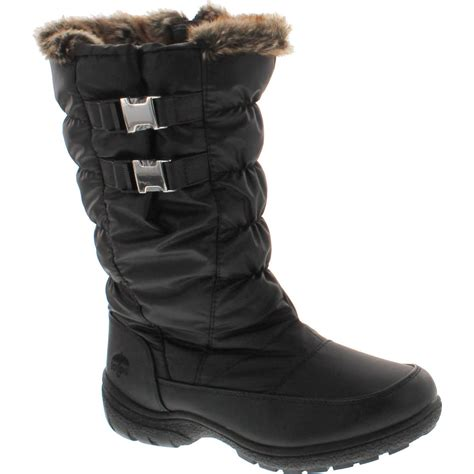 totes waterproof womens boots totes womens bunny waterproof winter snow boots black 6 ebay