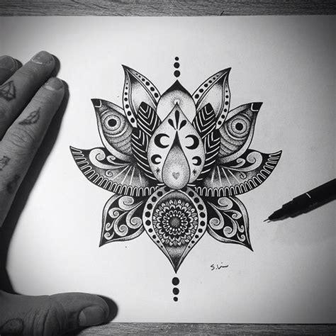est tattoo ideas drawings brubwynus 35 awesome mandala lotus designs images flower tattoos