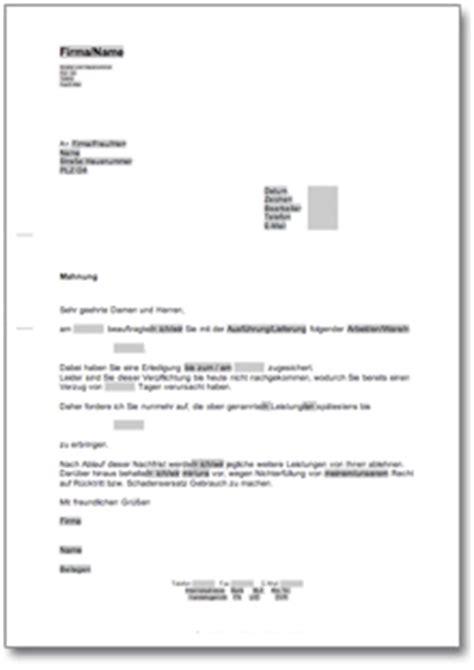 Musterbrief Fristsetzung Fristsetzung Bei Verzug Einer Lieferung Oder Dienstleistung At Musterbrief