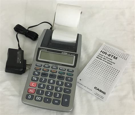 Calculator Printing Casio Hr 8tm casio hr 8tm printing calculator 12 digits with power cord calculators