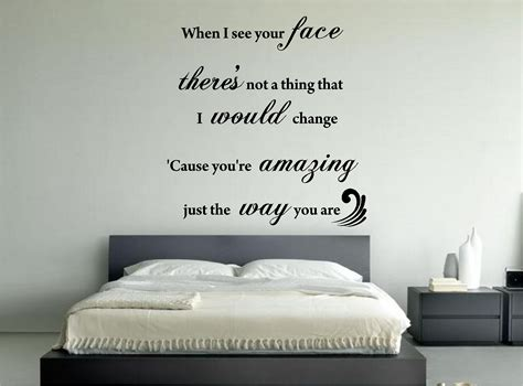 bedroom walls lyrics bruno mars amazing music song lyrics wall art sticker