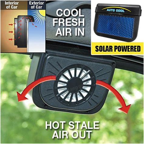 in car fan solar power car window auto air vent cool fan cooler
