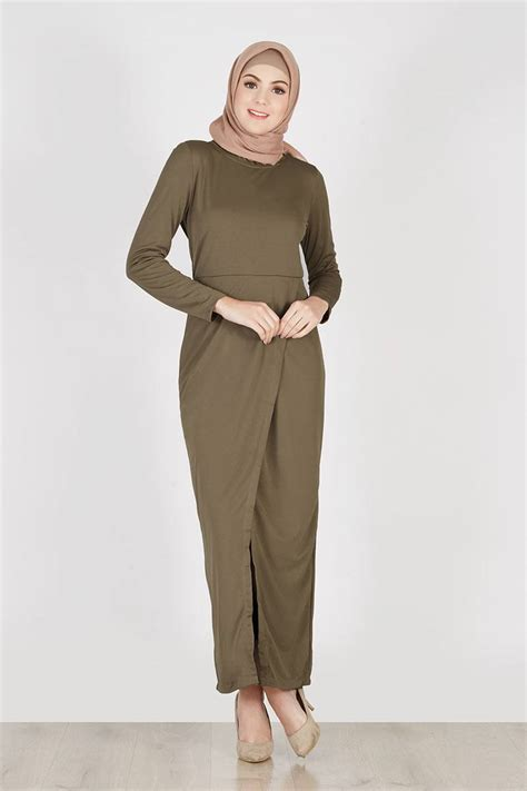 Dress With Cardy sell cardy dress olive dresses and jumpsuit hijabenka