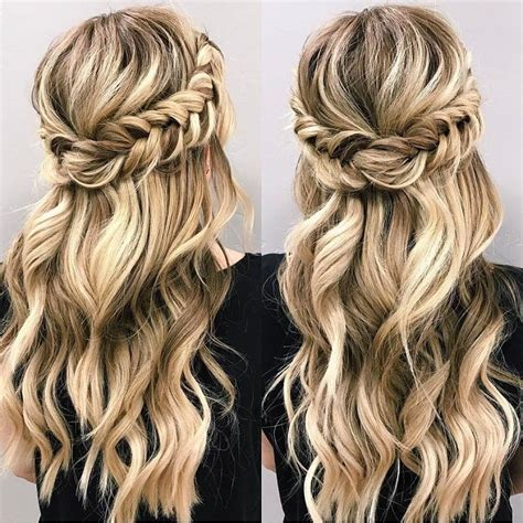 Half Hairstyle by Pin By On Hair Beautiful Braids Crown