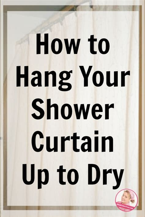 how to clean your shower curtain how to hang your shower curtain up to dry a slob comes clean