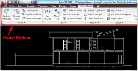 tutorial autocad 2010 lengkap pdf mengenal ribbon panel pada autocad tutorial autocad x