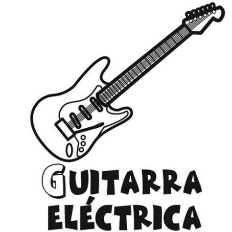 imagenes de instrumentos musicales para dibujar a lapiz dibujos gratis de una guitarra el 233 ctrica para pintar con ni 241 os
