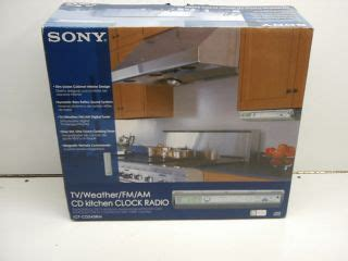 Sony Cabinet Tv by Sony Cabinet Counter Kitchen Cd Clock Radio Icf