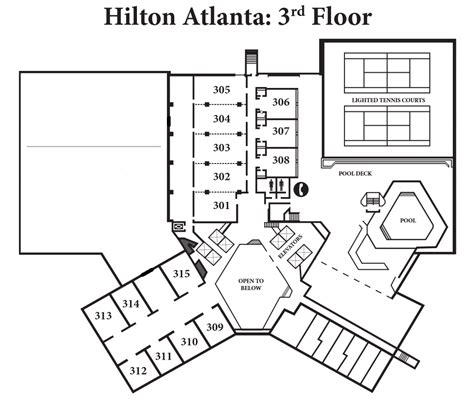 hilton hotel room layout a geek saga dragon con maps edition