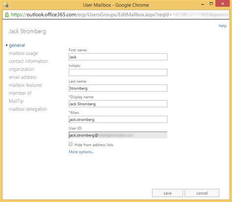 Office 365 Mail User Office 365 Change The Alias Attribute Of An Exchange