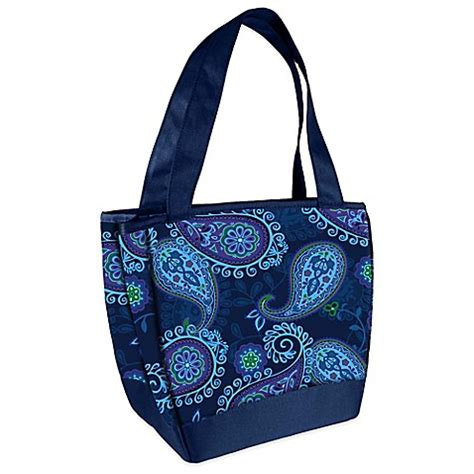 bed bath and beyond hyannis buy fit fresh 174 hyannis insulated lunch bag in blue paisley from bed bath beyond