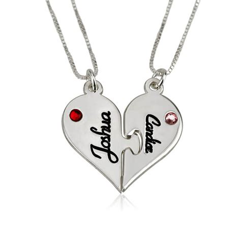 sterling silver breakable necklace set