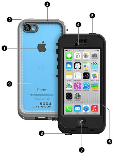 Mobile Sui For Iphone 5 T1910 Lifeproof Nuud To Suit Iphone 5c Black