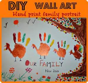 Thanksgiving Art Preschool Thanksgiving Art Activities Handprint Family Portrait