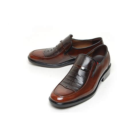 s wrinkle leather loafer shoes