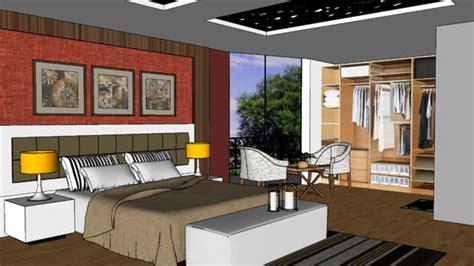 design bedroom using google sketchup bedroom 3d warehouse