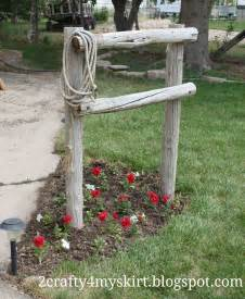 2 crafty 4 my skirt front yard western decor hitching post