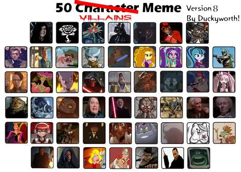 Villain Meme - 50 villains meme part 8 by duckyworth on deviantart