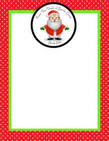 Blank Letter From Santa Template by December 2012 Simply Sprout