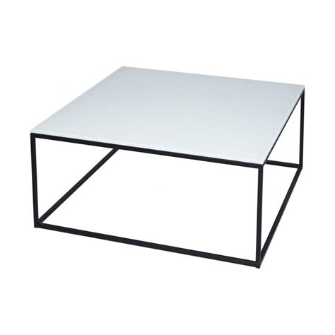 Black Metal And Glass Coffee Table Buy White Glass And Metal Square Coffee Table From Fusion Living
