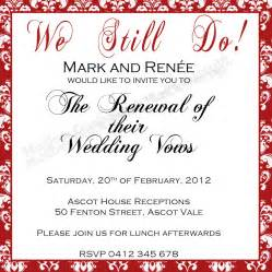Duck said quot lets party quot vow renewal invitation wedding invitation