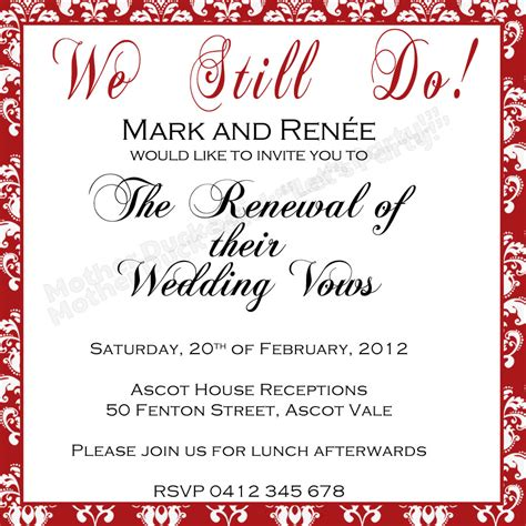 Wedding Vows Renewal by Duck Said Quot Lets Quot Vow Renewal Invitation
