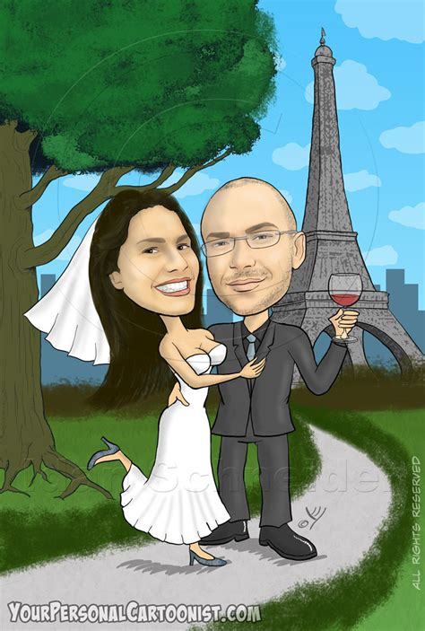 Wedding Background Caricature by Caricatures For Wedding Invitations Your Personal Cartoonist