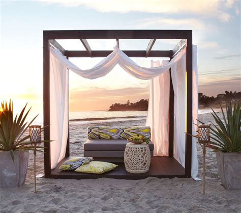 Outdoor Cabana Curtains Outdoor Cabana Curtains Cabana Patio Makeover With Diy Drop Cloth Curtains Diy Outdoor Cabana