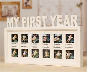 1 Year Baby Birthday Decoration 12 Month Baby Diary Wood Picture Photo Frame Buy Baby