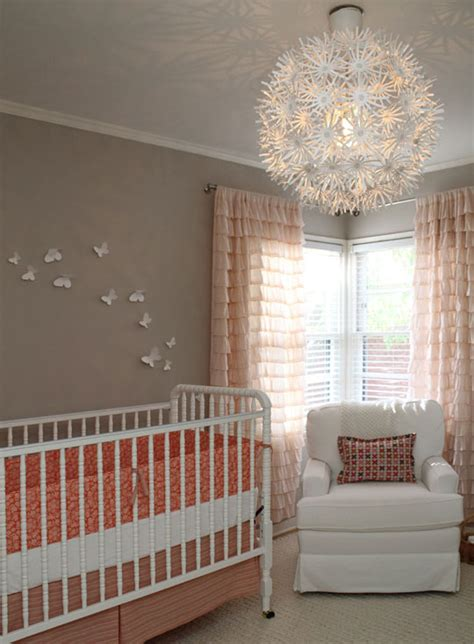 White Ruffled Curtains For Nursery Ruffle Drapes Contemporary Nursery Apartment Therapy