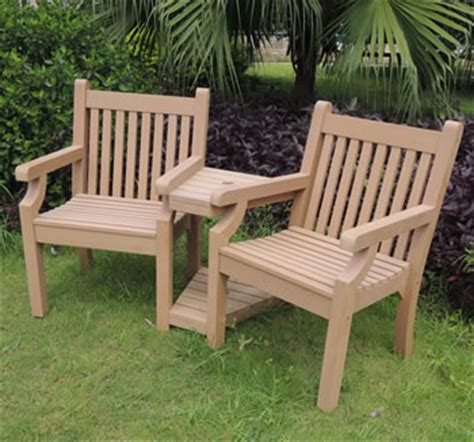 love bench garden furniture sandwick winawood 2 seater wood effect love seat teak