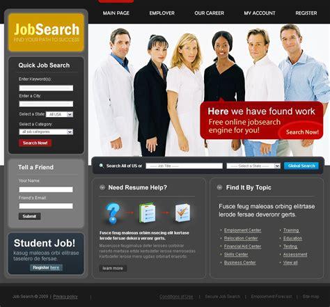 job portal website template web design templates job portal website template 23435