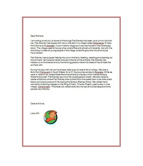 flat stanley letter template 37 flat stanley templates letter exles template lab