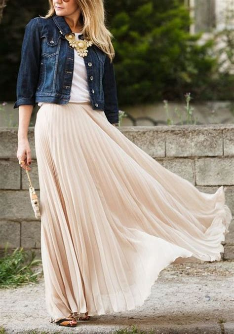Wedges Flowy Pleated Skirt Rok Import plain pleated ankle floor length fashion polyester flowy maxi skirt skirts bottoms