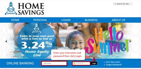 home savings loan banking login cc bank