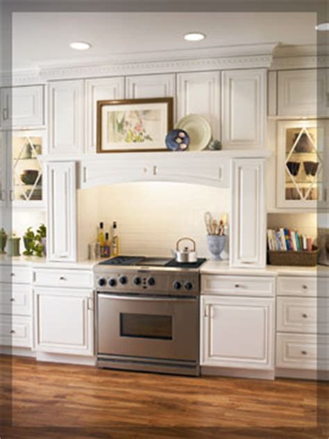 Ideas For Decorating Above Kitchen Cabinets cove range hoods kraftmaid cabinetry