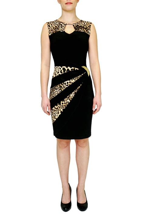 Dress Import Leopard joseph ribkoff black leopard print dress from canada by