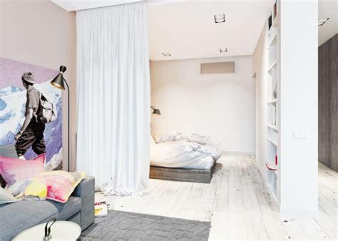 schlafzimmer vorhang idee trennvorhang zimmer raumteiler schlafzimmer weiss
