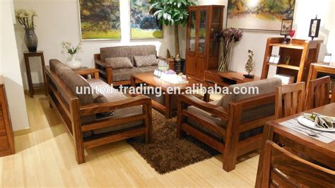 Wooden Living Room Furniture Solid Wood Sofa Set Morden Wooden Sofa With Seat Cushion Solid Wood W Thesofa