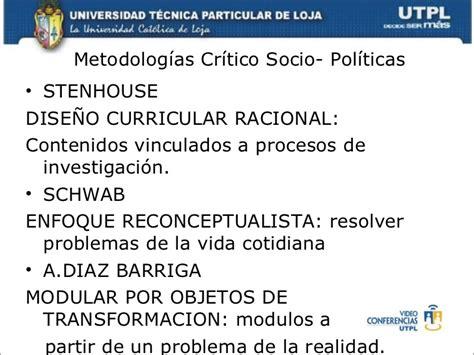 Diseño Curricular Definicion Diaz Barriga El Curr 205 Culo Escolar Mayo Octubre 2011