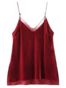Glitter Cropped Cami Top Wine spaghetti top fashion shop trendy style