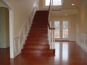 Wainscoting Ideas For Stairs by Brazilian Cherry Stairs With Wainscoting