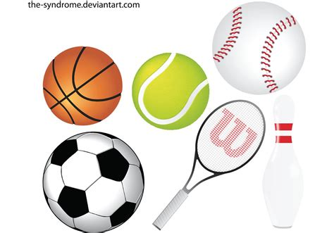 sport clipart sports vector pack free vector stock