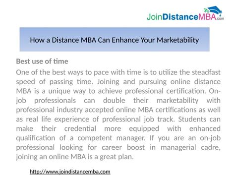 Executive Mba Vs Time Mba In India by Ppt Time Mba Vs Distance Mba In India Powerpoint