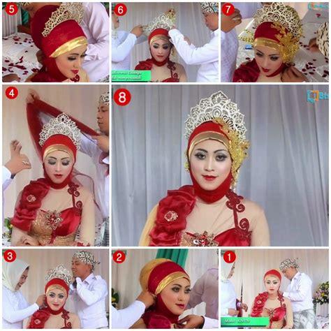 tutorial hijab pengantin akad tutorial hijab kebaya pengantin muslim modern 2
